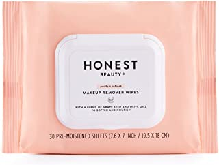 Honest Beauty Makeup Remover Wipes, 30Count