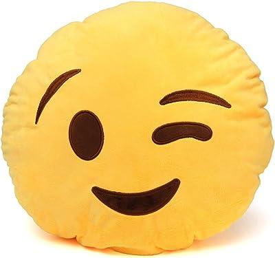 Amazon.com: Emoji Plush Specialty Cushion Pillows (Nerd ...