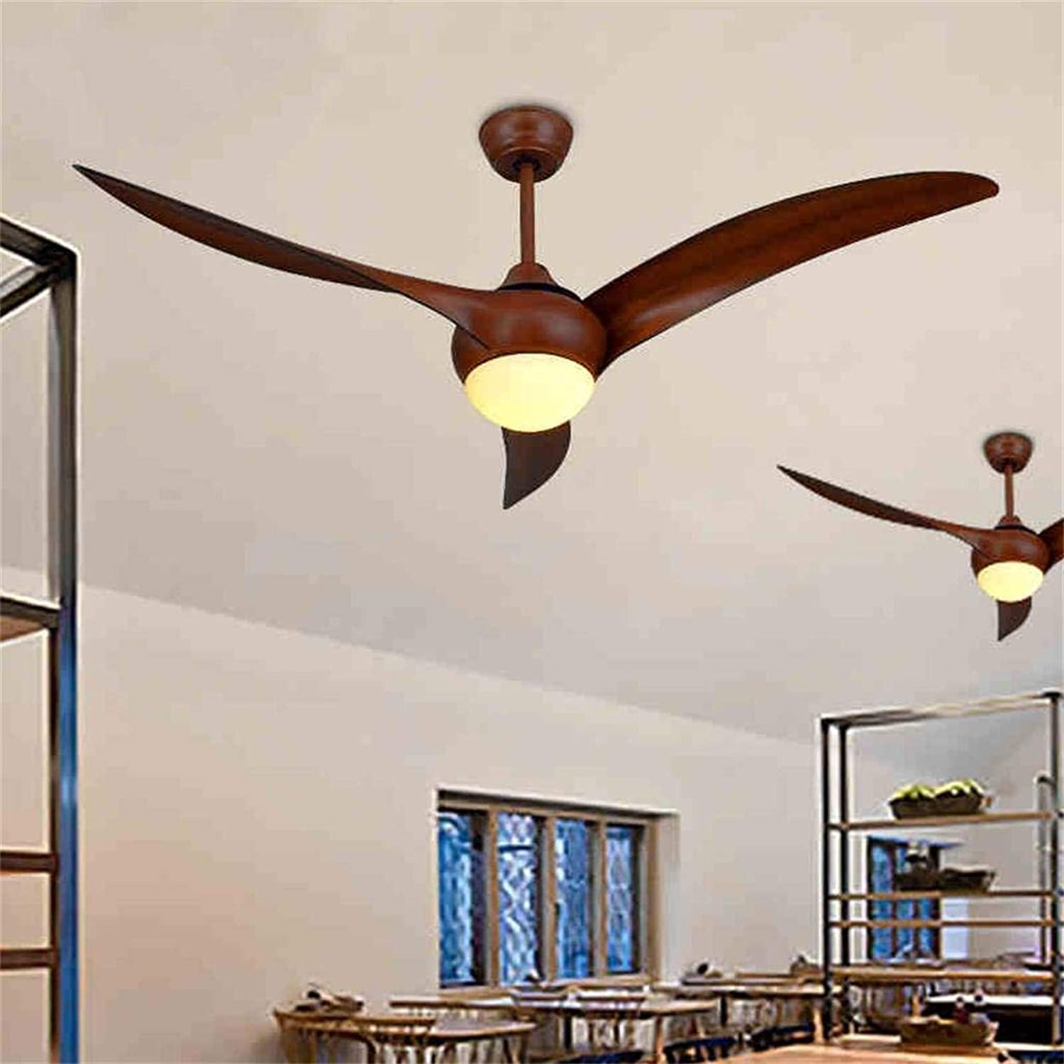 WHKHY Shades Hotel Retro Fan with Led Lamps Ceiling Fan Lamp Lighting Chandelier Continental Kiba Bedrooms Lobby