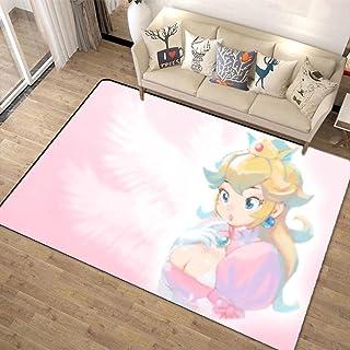 超级马里奥兄弟 Super Mario Bros 地毯 160x200 可洗 夏季用 旗子 时尚 垫子 可洗 防螨 防滑 可折叠 大 - 四季适用-A_160x200cm