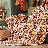 Ganchillo hecho a mano retro bohemio libre de la serie del bosque puro Línea rural Manta Cama cubierta del paño cama manta de ganchillo manta del sofá de la cubierta del sofá de la manta 60 * 120cm