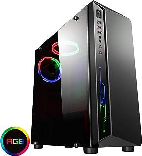 CiT Blitz - Funda para Videojuegos con Ventana Lateral de acrílico Completa, Color Negro
