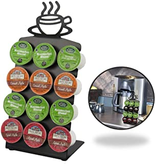 Texas Deluxe Gift Style K-Cup Display Steel Rack 12 Coffee Pods Holder with Anti