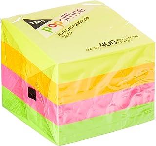 Tris, Nota Autoadesiva, pacote de 400, Multicor