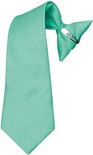 Boys Clipon Ties Kids Solid Color Neck Tie Children Clip-on tie