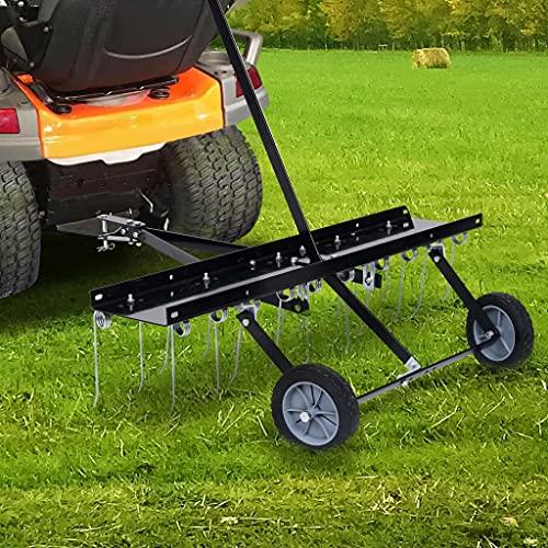 SHUJINGNCE Gartenmaschinen Vertikutierer für Aufsitzmäher 100 cm Gesamtabmessungen: 102 x 85 x 37 cm