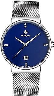ساعة رجل الأعمال من دبليو وور لون أزرق