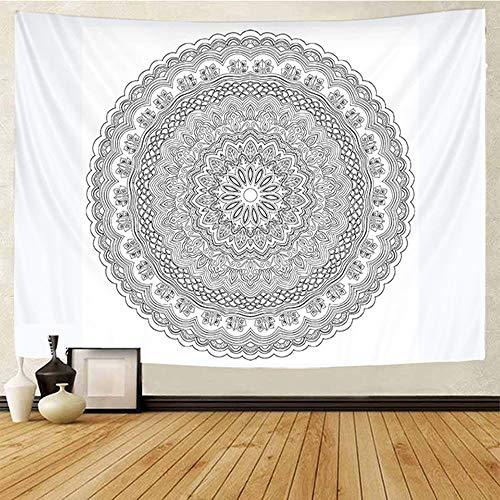 QAWD Tarjeta del Tarot Indio Tapiz de brujería Colgante de Pared Hippie Tapiz de Estilo Bohemio Mandala Tela de Fondo Tela Colgante A1 130x150cm