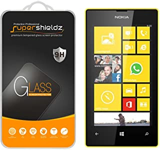 (2 Pack) Supershieldz for Nokia Lumia 520 Tempered Glass Screen Protector, Anti Scratch, Bubble Free