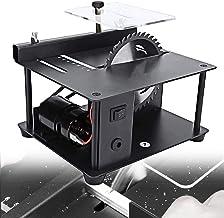 HTDHS Sierra de mesa doméstica, Sierra circular de precisión de escritorio de bajo ruido, con bisel acrílico, profundidad de corte de 35 mm Otras funciones de molienda para carpintería, bricolaje, cor