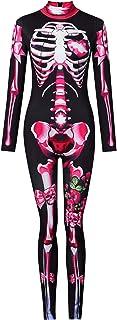 (ADOSSY) ボディースーツ キャットスーツ ハロウィン コスプレ 衣装 セクシー 女王様 ボンテージ ピンク リボン (L)