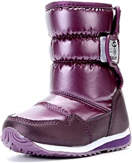 VECJUNIA Boys Girls Kids Winter Snow Boots Toddler/Little/Big Kids Anti-Slip Faux Fur Lined Cold Weather Shoes