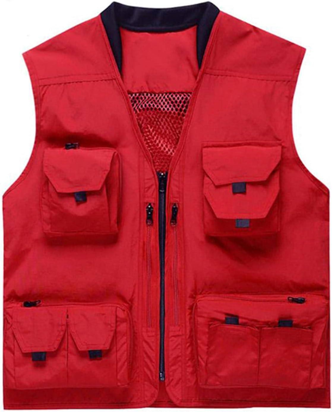NC Photography Vest Quick-Drying Mesh Fishing Multi-Pocket Vest Detachable Vest with Zipper Vest Outdoor Activities SY015