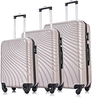 """Fridtrip 3 Piece Luggage Sets Hard Shell Carry On Suitcase with Wheels Lightweight ABS Luggage Suitcase Set 20"""" 24"""" 28"""" (3..."""
