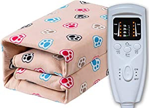 Electric Blanket King Size Dual Control, Fleece Fully Fitted Heated Mattress, Intelligent Microcomputer Controller, Machin...