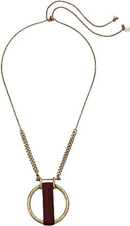 Leather Wrap Pendant Necklace