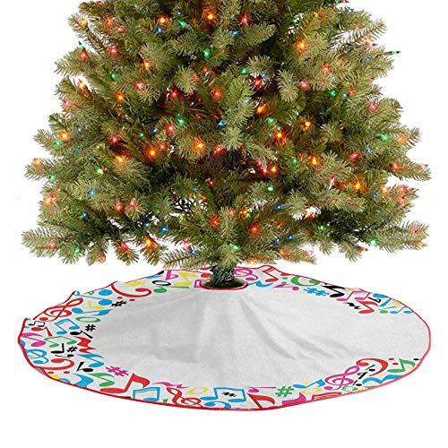 Falda de árbol con notas musicales, claves, notas menores,...