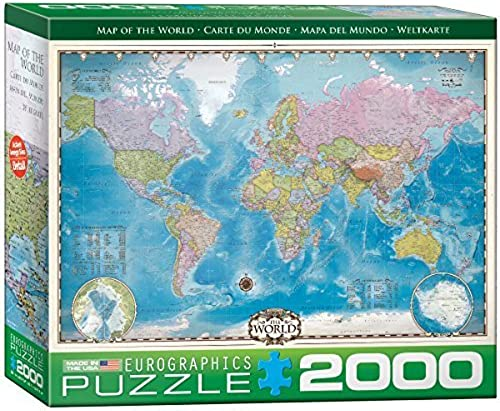 EuroGraphics Map of The World Puzzle (2000-Piece) by Eurographics - Toys