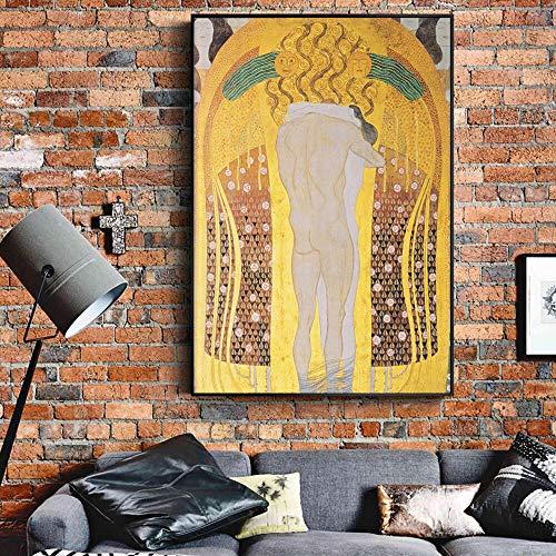 Geiqianjiumai Maler Leinwandarbeiten von Wandgemälden, die die ganze Welt küssen, kopieren die dekorativen rahmenlosen Gemälde von Wandgemälden 30X45CM