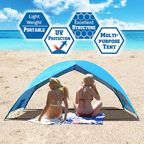 Strong Camel Portable Beach Tent Sun Shade Large Size Shelter Outdoor Hiking Camping Napping