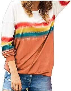 neveraway Women Crew Neck Long Sleeve Casual Loose T Shirts Tunic Sweatshirts Tops