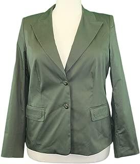 Marina Rinaldi by MaxMara Elenco Dark Green Two Button Blazer