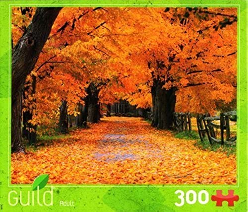 Autumn Fall Trees & Leaves Nature Scene 300-piece Puzzle by Guild