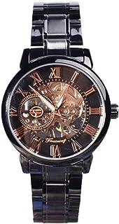 億騰 腕時計 機械式 メンズ ローマ数字 時崎 狂三 トキサキ 刻々帝 コスプレ ウォッチ スケルトン 腕時計 (type-2)