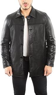 EST. 1950 Men's Jacket Genuine Lambskin Leather Four Button Car Coat