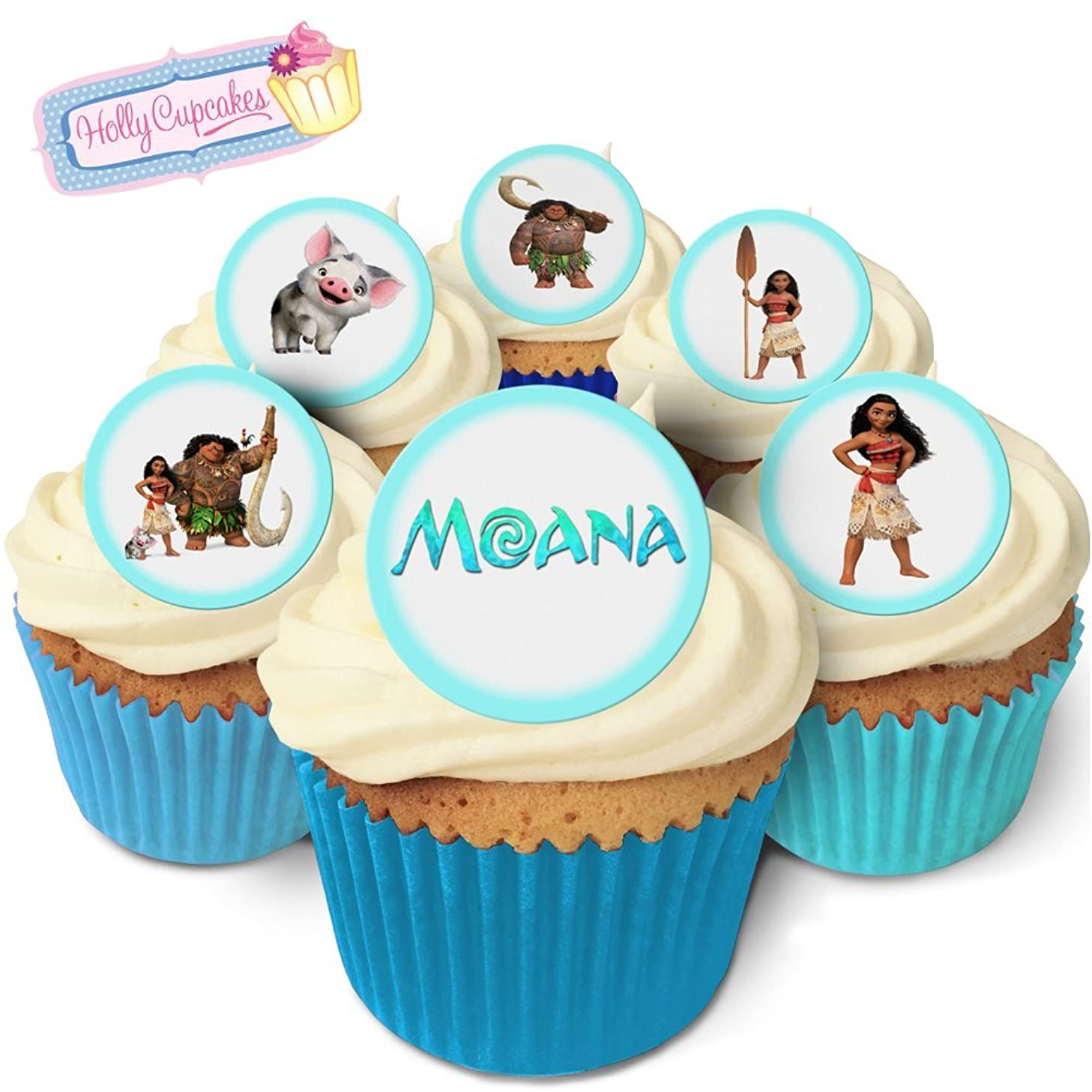 24 Fabulous Edible Wafer Cake Toppers: Moana