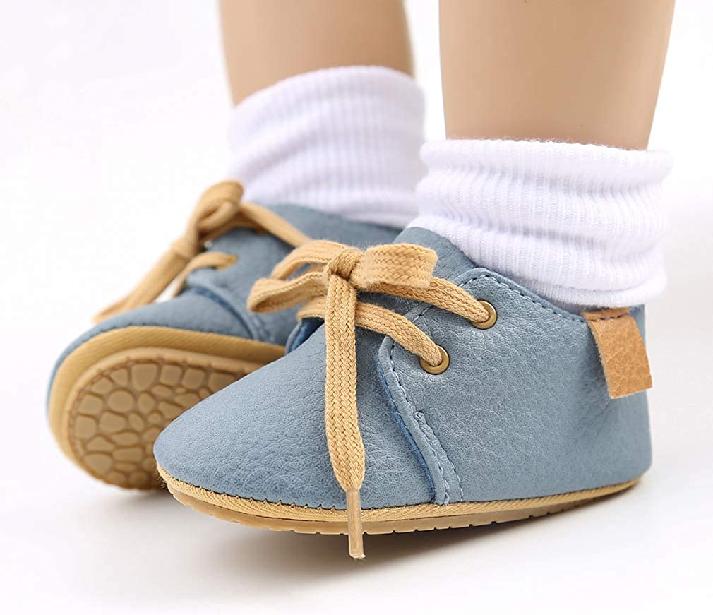 Baby Boy Shoes Canvas Toddler Sneakers Rubber Non-Slip Sole Infant Crib Shoes Newborn Shoes for Baby Girls