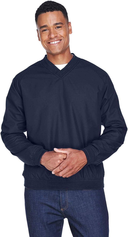 UltraClub Long-Sleeve Microfiber Opening large release sale Crossover Direct sale of manufacturer Windshirt 892 V-Neck