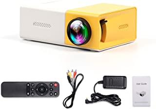 Sunbaca Mini Projector Portable Home Outdoor Video Movie Projector with HD USB AV Interfaces Remote Control 400 lux LED Pr...
