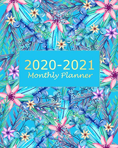 2020-2021 Monthly Planner: Blue ...
