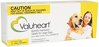 VALUHEART for Dogs 21 to 40 Kg GOLD Pack 6 Tablets