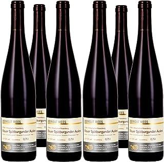Weingut Mees SPÄTBURGUNDER ROTWEIN EDELSÜSS SÜSS AUSLESE 2018 KREUZNACHER ROSENBERG Prämiert Wein süß Deutschland Nahe Paket 6 x 750 ml 100% Blauer Spätburgunder