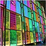 Lámina tintada transparente para ventanas, puertas de cristal, espejos (63 cm x 5 m), color azul