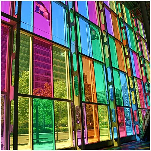 (9,50 €/m²) 8300 Fensterfolie Tönungsfolie Transparent Selbstklebend Durchsichtig Folie für Fenster Glastüren Raumteiler Spiegel (Gelb, 31,5cm x 5m)
