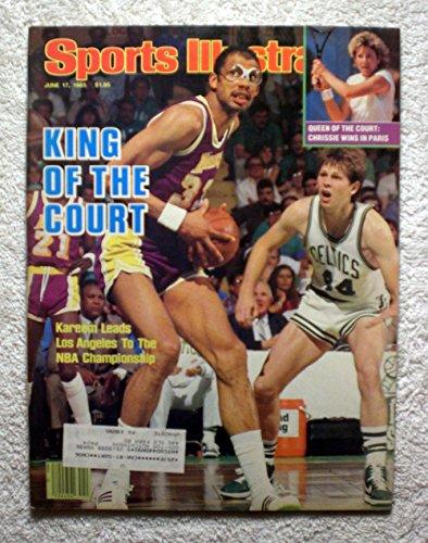 Kareem Abdul-Jabbar - Los Angeles Lakers - 1985 NBA World Champions! - Sports Illustrated - June 17, 1985 - Boston Celtics (Danny Ainge) - SI