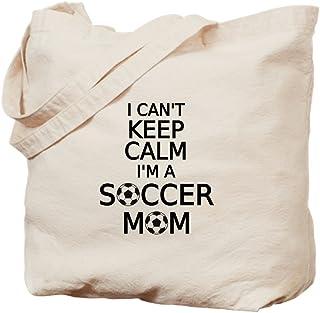 """CafePress Tragetasche mit Aufschrift""""I Cant Keep Calm, I Am A Soccer Mom"""", canvas, khaki, M"""