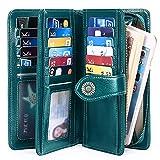 FALAN MULE Elegant Leather Wallet for Women RFID Blocking Women Purses 24 Card