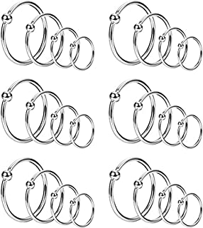 YOVORO 24PCS 20G Stainless Steel Nose Rings Hoop Cartilage Helix Ear Piercing Tragus Body Jewelry