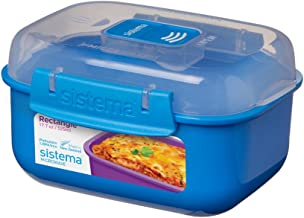 Sistema Microwave Rectangular Container, Assorted Colours, 525 ml