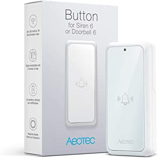 Aeotec Button for Doorbell 6, Smart Home Chime Extension Accessory, IP55 Waterproof, Battery Powered, 433 MHz