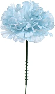 Larksilk Blue Silk Carnation Picks, Artificial Flowers for Weddings, Decorations, DIY Decor, 100 Count Bulk, 3.5