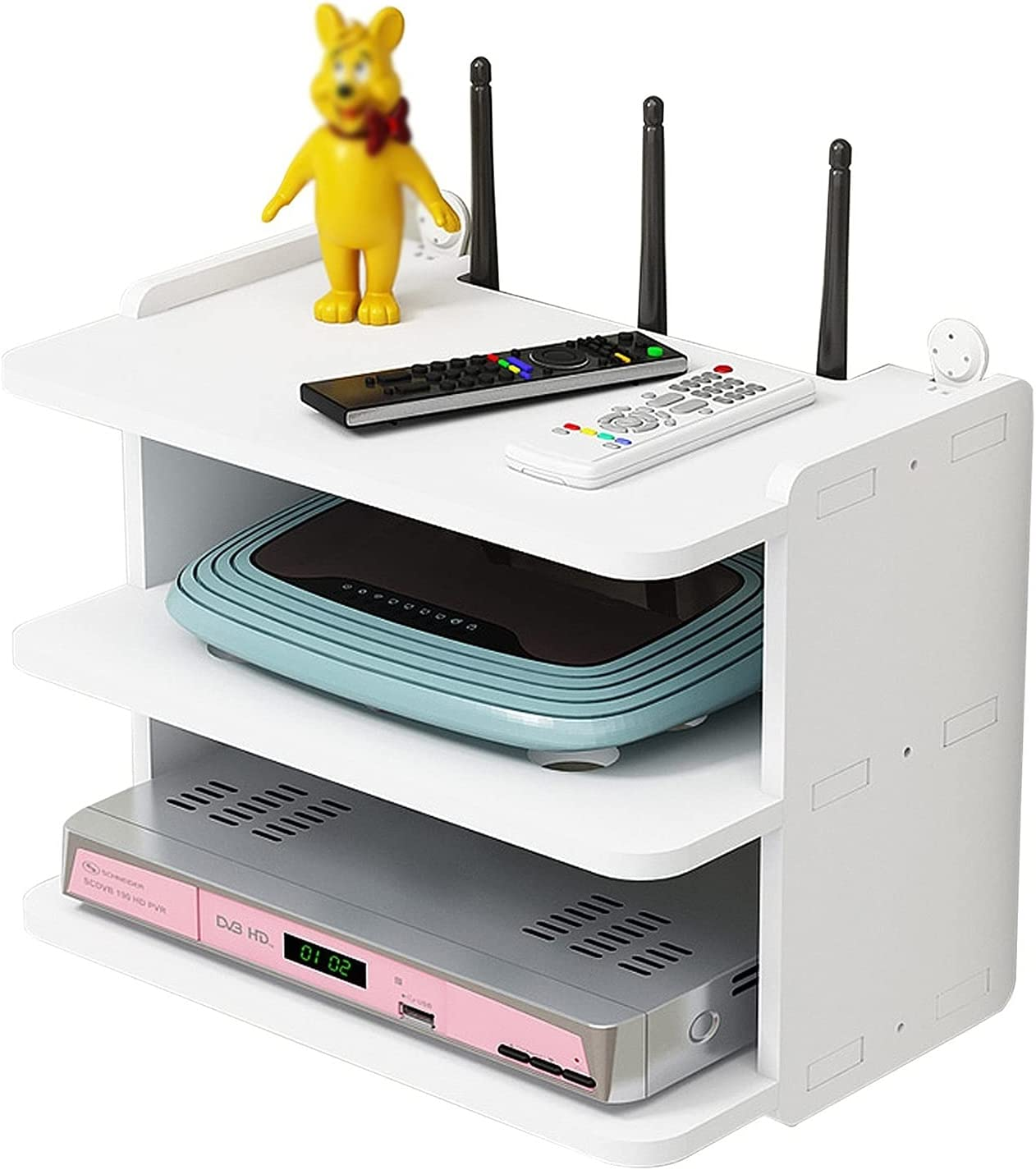 JF-TVQJ TV Set-top Storage Box Wall Super beauty product restock Very popular quality top WiFi Router T Mounted Shelf