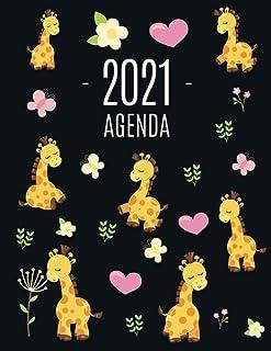 Jirafa Agenda 2021: Planificador Mensual que Inspira Productividad   Con Calendario Mensual 2021