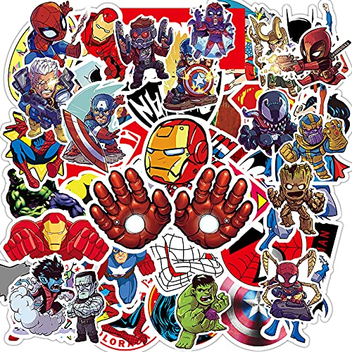 Superheros Stickers, 100 Pcs Comic Legends Theme Decals for Teen Kid Adult...