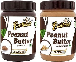 Earthnut Peanut Butter Combo Creamy Chocolate ( Non-GMO, Gluten Free, Vegan)(500g + 500g) 1 kg