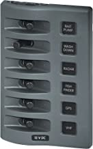 Blue Sea Systems Weatherdeck 12V Dc Waterproof Switch Only Panel, 6 Positions